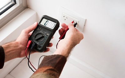 testing prior to issuing an electrical safety certificate